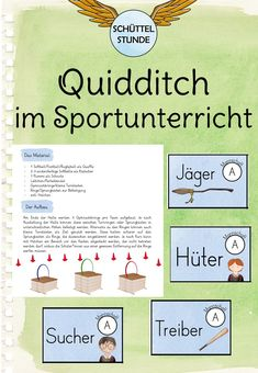 Quidditch im Sportunterricht - Famous Last Words Event Management, Classroom Management, Sports Activities, Activities For Kids, Gym Classes, Thing 1, School Sports, Writing Lessons, School Classroom
