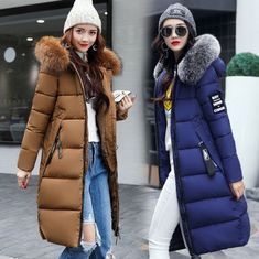 7cbbc2fcd1 New 2019 Women s Winter Slim hooded Long Padded jacket Cotton jacket Coat  Parka Chic online. Perfect on the Womens Coats Jackets Womens Coats Jackets