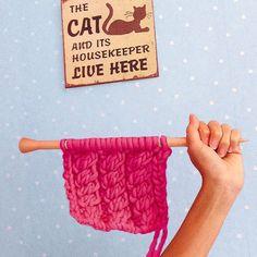 Morgane Mathieu x We Are Knitters - Romy Scarf  #romyScarf #weareknitters #wak #wakxmorganem2 #dailyknit #knit #knitting #knittingaddict #knitwear #knitwithstyle #knittersofinstagram #instaknit #pink #blue #yellow #summer #color #chunky #wool #yarn #cat #sign #handmade #diy #wallpaper #useyourhands