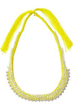 Alyssa Norton vintage diamanté and braided silk necklace http://www.alyssanorton.com/ #jewelry #accessories
