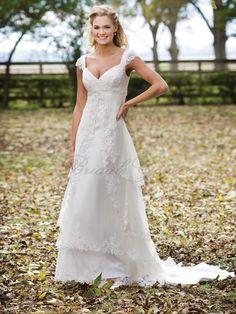 A-line Tulle Venise Lace Adorns Bodice Sweetheart Neckline Chapel Length Train Wedding Dresses (KB233941)