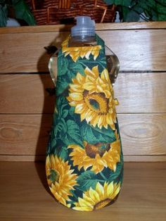 Apron cover for a bottle of dish liquid