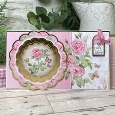 Forever Florals - Rose Luxury Topper Collection,Papercraft,Hunkydory Collections, Lovely Rose theme - perfect for so many occasions & recipients Premier Hunkydory Crafts, Love Rose, Mothers Day Cards, Card Making Inspiration, Love Symbols, Creative Cards, Your Cards, Card Stock, Birthday Cards
