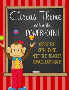 CIRCUS Theme Classroom Decor / PowerPoint / editable slides / Great resource for Meet the Teacher, Curriculum Night, Open House / ARTrageous FUN / graphics by Jazzy Patterns, JW Illustrations Circus Theme Classroom, Classroom Rules, Future Classroom, Classroom Decor, School Themes, School Fun, Meet The Teacher Template, Curriculum Night, Teacher Forms