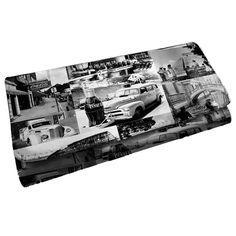 Carteira Coca-Cola Landscape Cars Branco e Preto em PU - Urban - 18x9 cm | Carro de Mola - Decorar faz bem.