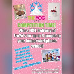 COMPETITION TIME Win a FREE delivery of up to 6 #FroYos to your home workplace or even school by simply doing the following!  1. REGRAM THIS PIC ON YOUR PROFILE WITH YOUR FAVE THING ABOUT THE YOG BAR! 2. MUST PUT #freeyogbarcompetition  Competition ends on Friday entrants must be Wirral based prize not redeemable for cash GET POSTING!!!  by theyogbar
