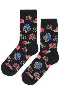 Mixed Floral Ankle Socks