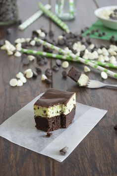 Mint Chip Mousse Brownies - The First Year Blog