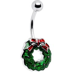 Shop a great selection of Body Candy Holiday Christmas Wreath Belly Button Ring. Find new offer and Similar products for Body Candy Holiday Christmas Wreath Belly Button Ring. Cute Belly Rings, Belly Button Rings, Belly Button Piercing Jewelry, Belly Button Piercing Tumblr, Belly Piercings, Tiara Ring, Belly Bars, Ring Displays, Vintage Velvet