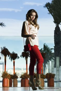 the red chloe' trousers