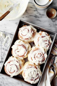 The Classics: Cinnamon Rolls. Traditional sweet yeast bread filled with butter, cinnamon, and sugar. Topped with cream cheese frosting!