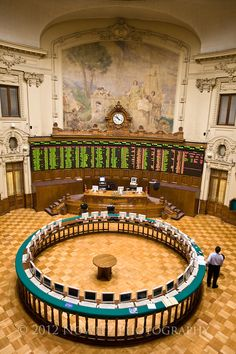 Santiago, Chile. Old Stock Exchange.