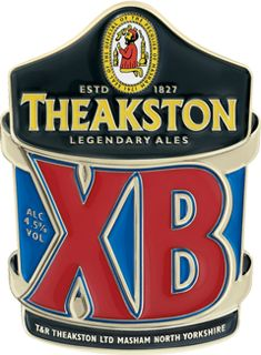 THEAKSTON BREWERY'S XB - premium strength bitter, ruby coloured with a rich flavour and full body. The balance between bitterness and fruitiness from the Bramling Cross and Fuggle hops used give XB the distinctively complex aroma.