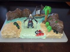 Assassins Creed Birthday Cake for my sons 12th Birthday.