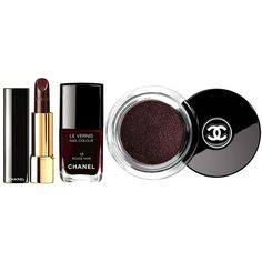 Chanel Rouge Noir Absolument Makeup Collection for Christmas 2015 ❤ liked on Polyvore featuring beauty products, makeup and beauty
