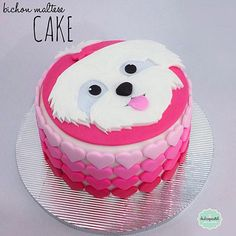 Dog Birthday, Birthday Cake, Animal Cakes, Cupcakes, Dog Cakes, Pretty Cakes, Creative Cakes, Brownie Recipes, Themed Cakes