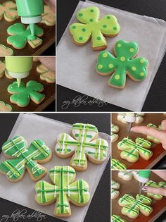 St Patrick's Day royal icing cookies
