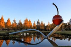 Spoonbridge and Cherry at the Minnesota Sculpture Garden, Minneapolis, MN.