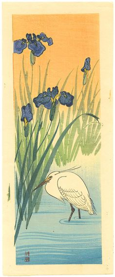 Ohara Koson: Iris and Egret