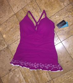 68dd26e4292 NWT $178 Profile by Gottex Swimdress One-Piece UW Swimsuit Plus Size  Women's 24W