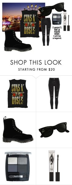 """Rock girl"" by mad-olien ❤ liked on Polyvore featuring River Island, Dr. Martens, Ray-Ban, Isadora and Eyeko"