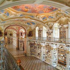 Library at the Benedictine Monastery of Admont - Austria