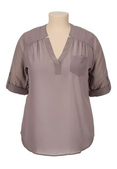 chiffon v-neck pullover plus size blouse any color size 3