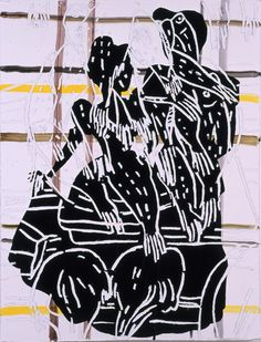 Cinderella    lacquer paint,acrylic on urethane and canvas[1].53x41cm 2005