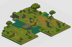 Tiledmap - isometric by TimJonsson on DeviantArt Isometric Map, Isometric Design, Classic Rpg, 2d Game Art, Map Background, Pixel Games, Environmental Art, Game Design, Art Tutorials