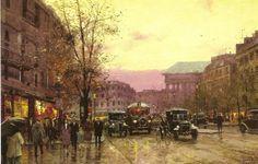 Paris at twilight ~ Thomas Kinkade