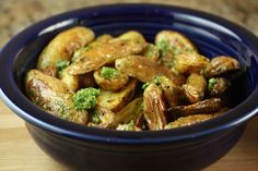 Roasted Fingerling Potatoes with Chive Pesto.......yes, I think I will :)