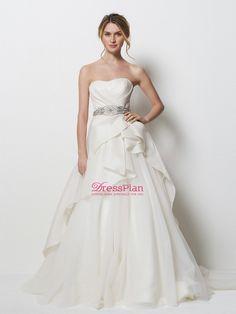 vestido de novia corte A con cinturon