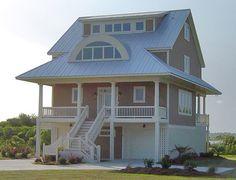 Winds Cottage Piling Foundation Shed Dormer Right