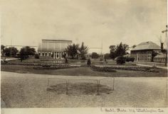 View of the Palm House and Conservatory at Shaw's Garden. Missouri Botanical Garden. (1900)