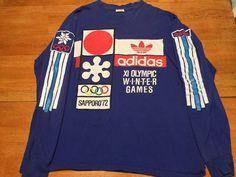 ac7615082e575 1968 Xi Olympic Adidas   Sapporo 1972 Vintage L S T Shirt Extremely Rare Sz  XL