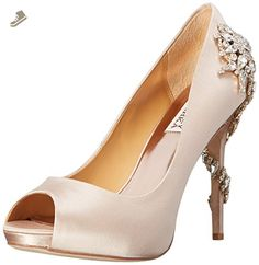 Badgley Mischka Women's Royal Dress Pump, Nude, 7 M US - Badgley mischka pumps for women (*Amazon Partner-Link)