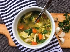 The ingredients in this delicious slow cooker chicken soup are carefully selected for their immune-boosting properties to help you feel better fast.