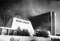Hellish sight: Smoke pores from the MGM Grand Hotel after an electrical fire ignited inside a main floor restaurant Black N White Images, Black And White, Atlantic City Casino, Western Springs, Today In History, Vegas Casino, Grand Hotel, Old Movies, Best Hotels