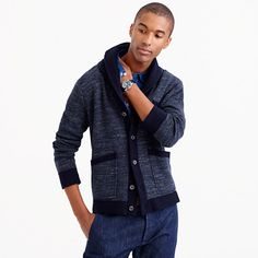 We used an extra-robust, textured cotton yarn to create this sweater inspired by the hefty vintage knitwear favored by fishermen, soldiers and anyone else that needed to stay warm while on the job. Luckily for the rest of us, it works just as well in chilly offices as it does on choppy seas. <ul><li>Cotton.</li><li>Chest pocket.</li><li>Dry clean.</li><li>Import.</li></ul>