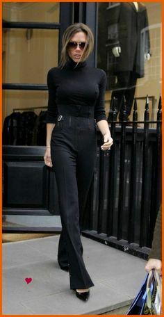Victoria Beckham, black elegance