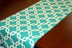 Premier Prints Table Runner Turquoise | Gotcha By Modernality2