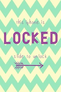 Slide to unlock!