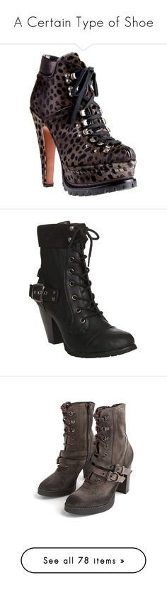 """""""A Certain Type of Shoe"""" by kiteshop ❤ liked on Polyvore featuring shoes, boots, ankle booties, heels, booties, sapatos, women, lace up platform bootie, thick heel booties and high heel ankle booties"""