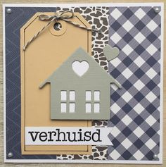 LindaCrea: Home Sweet Home 3d Cards, Some Cards, Paper Cards, New Home Cards, House Of Cards, Wedding Shower Cards, Marianne Design Cards, Paint Colors For Living Room, Stamping Up Cards