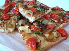 caramelized onion and tomato focaccia #meatless