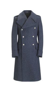 Air Force Blue Authentic Great Coat, Slim Fit
