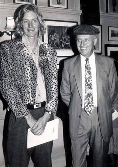 Henry Tennant and his father, Lord Glenconner