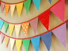 Eco-Friendly Reusable Fabric Bunting Banner by LittleBirdsBoutique Fabric Bunting, Bunting Garland, Buntings, Garlands, Fabric Banners, Paper Bunting, Fabric Garland, Diy Garland, Rainbow Room