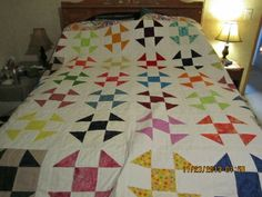 Shoo Fly quilt all done