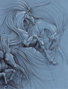 March of the Demon Horses by hibbary.deviantart.com on @deviantART